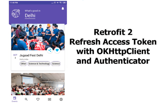 Implement JWT Refresh token in Open Event Attendee App