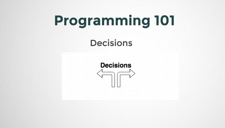 Programming Decisions