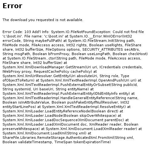 XXE error