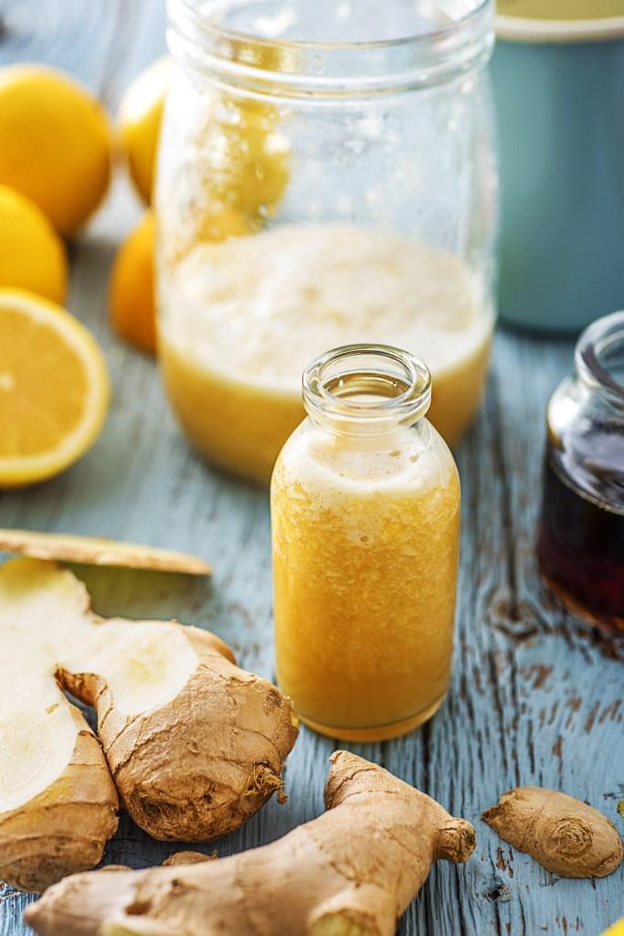 Boisson citron-gingembre