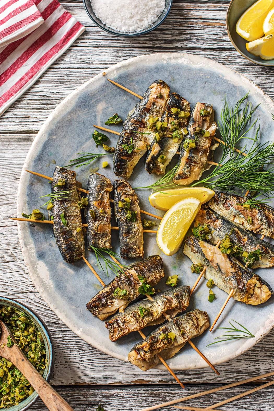 brochettes sardines