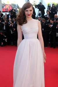 actress louise bourgoin poses on the red carpet 68th cannes film festival in cannes