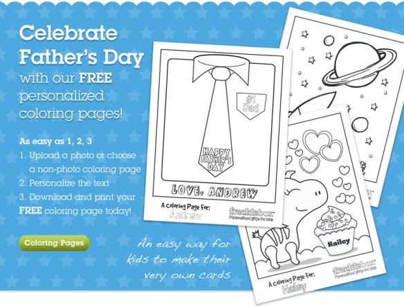 Personalized Free Coloring Pages from Frecklebox.com » Frecklebox Blog