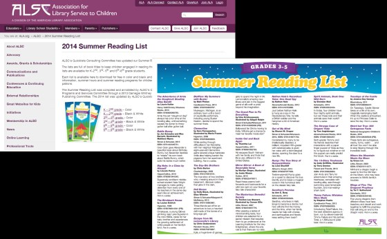 ALSC Summer Reading List