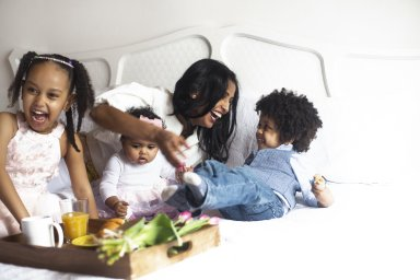 connecting as a family is great for mental health of children