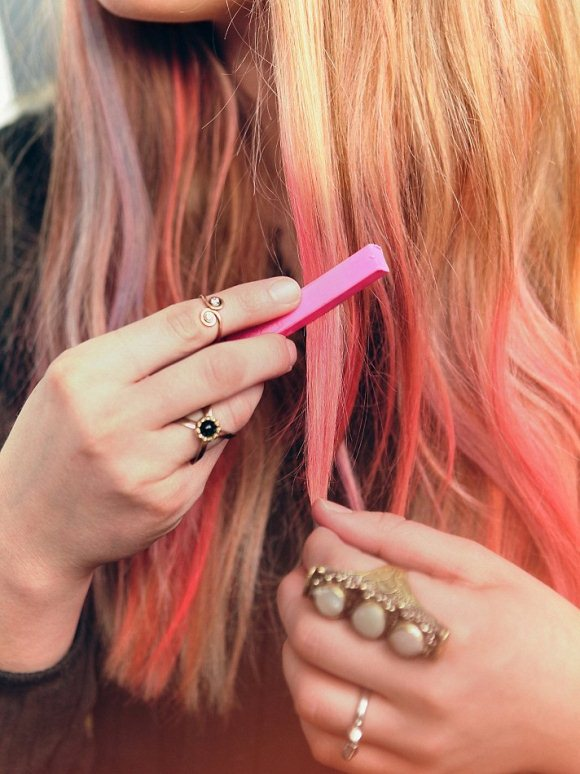hair chalk for blonde hair