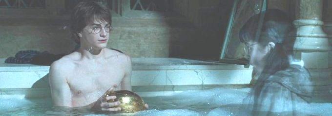 ハリーはお風呂へ入る