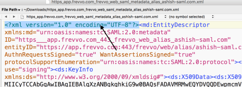 SP Metadata (paste without XML Prolog)
