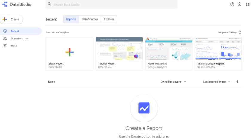 Google Data Studio setup