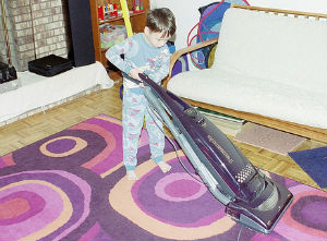 Vacuuming - teaching chores to children with special needs