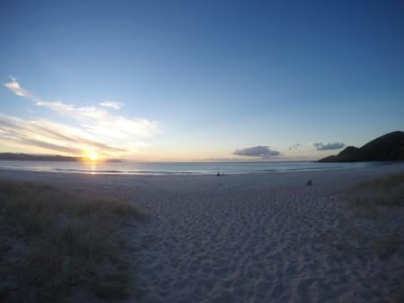 Coucher de soleil à Spirits Bay