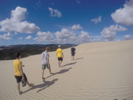 En haut des dunes de Te Paki