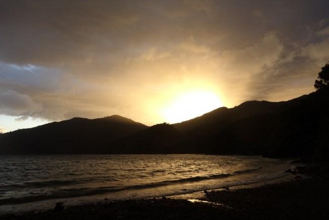 Sunset sur Te Araroa