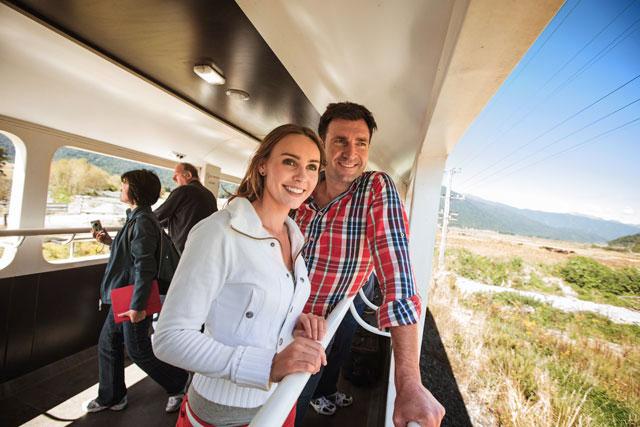 Train île sud Nouvelle-Zélande