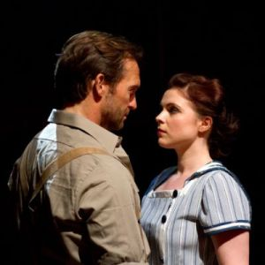 Gemma as Julie Jordan with Tim Rogers (Billy Bigelow) in Carousel at the Arcola Theatre