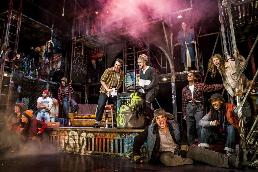 Production still from Rent the musical