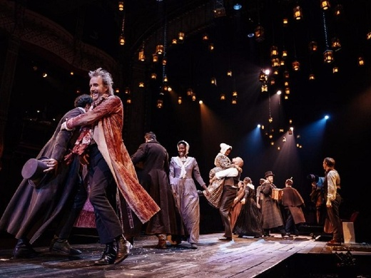 Production still from A Christmas Carol at The Old Vic