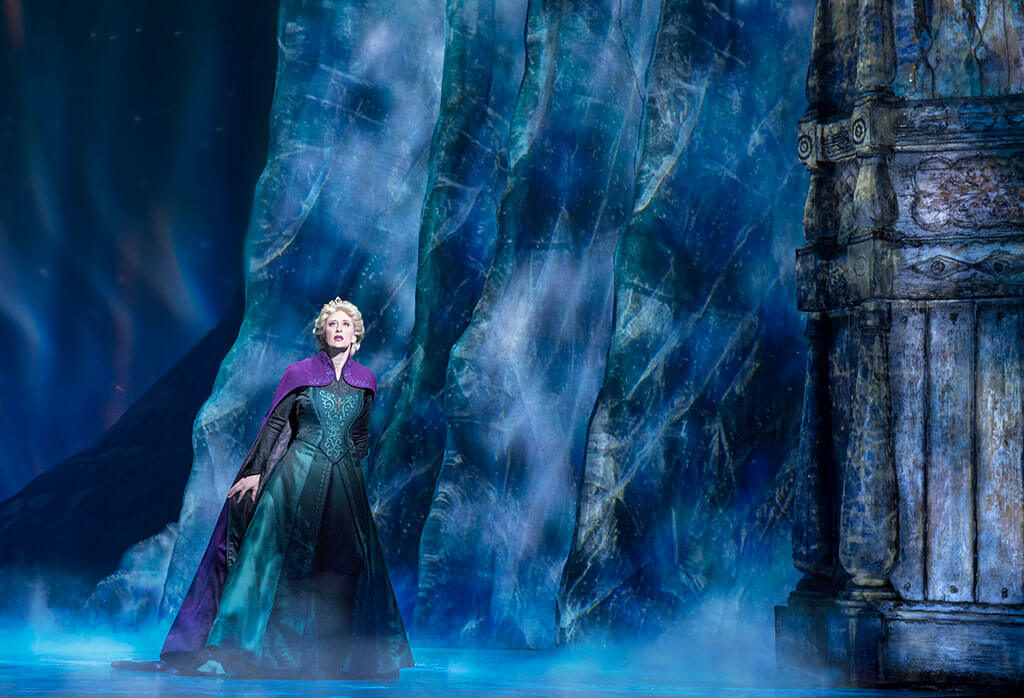 Production still from Disney's Frozen Broadway