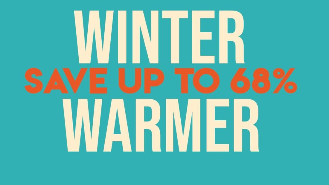 Winter Warmer Sale