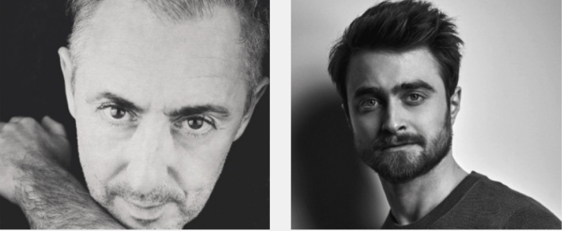 headshots of Alan Cumming and Daniel Radcliffe