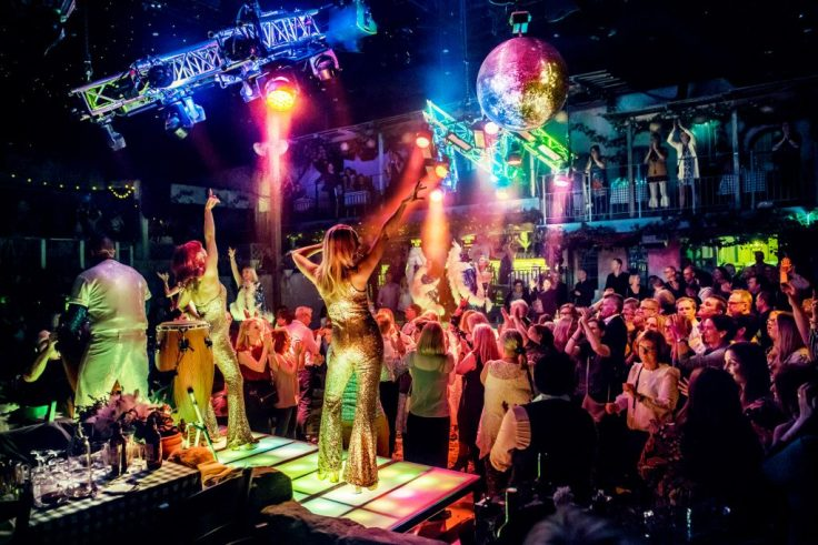 Mamma Mia the Party production still