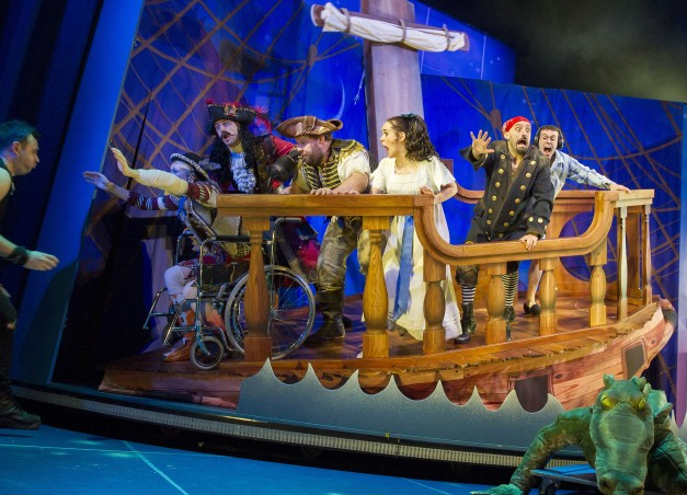 production still from Peter Pan Goes Wrong
