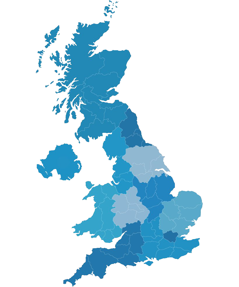 UK map showing geographical regions
