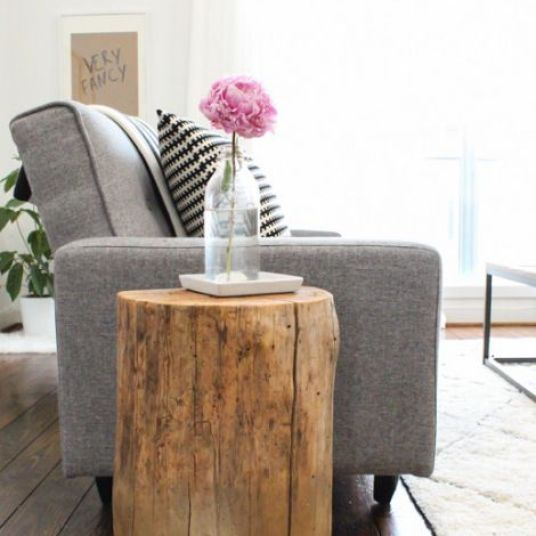 Living Room Decorating Ideas - Poufs & Side Tables