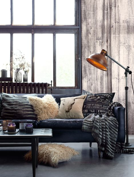 industrial pillows and throw - Industrial Decor