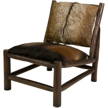 Paldor Animal Hide Accent Chair