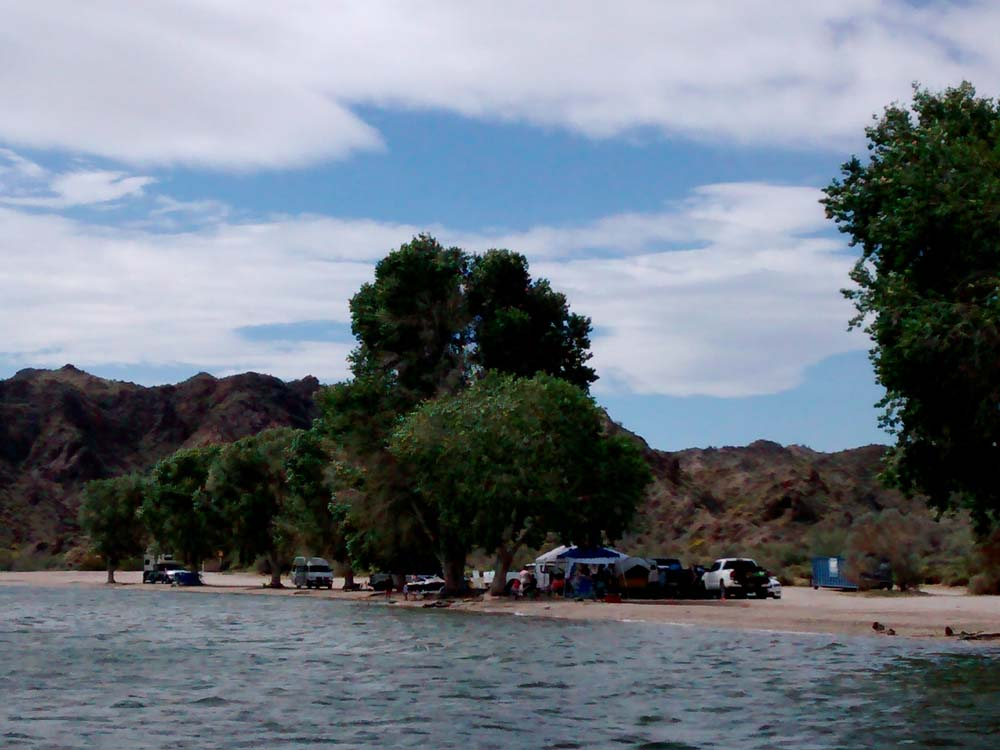 Lake Mohave beach camping