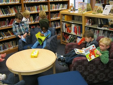 Kindergarten in the library
