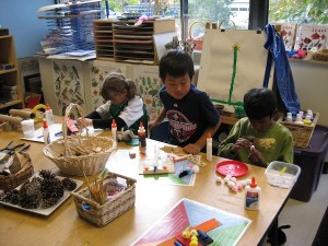 I give students lots of choices of materials, including craft supplies and things from nature.