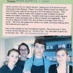 An 8th grader, alumni and their mom helped serve Sunday dinner at First Nation Kitchen