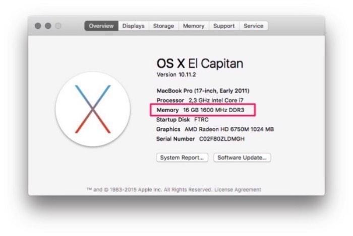 """16 Gigas de RAM no upgrade do meu Macbook Pro 17"""""""