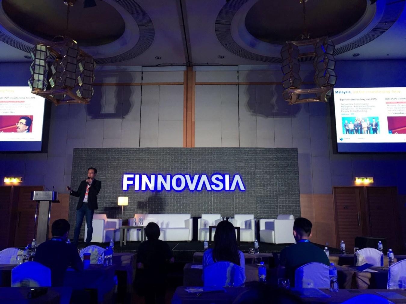 Funding Societies Co-Founder Kelvin Teo at FINNOVASIA KL 2017