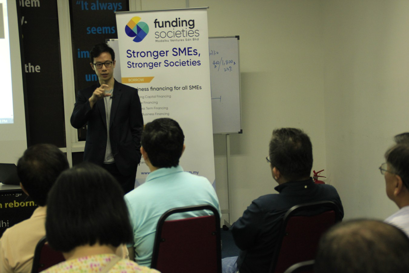 CEO Wong Kah Meng at Funding Societies Malaysia's 2nd Investor Seminar