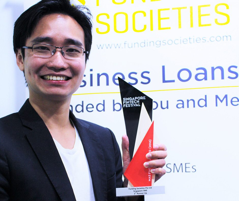 Funding Societies Won 3rd Place for MAS FinTech Awards 2016