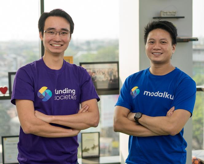 Funding Societies Co-founders Kelvin Teo and Reynold Wijaya