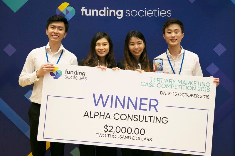 Funding Societies Tertiary Marketing Case Competition Winner - Alpha Consulting