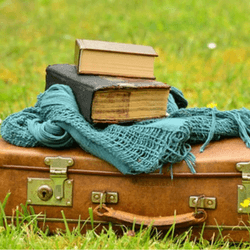 Hold a used book sale to raise money for your trip or adventure