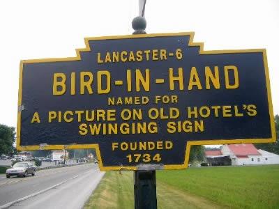 Bird in Hand, Pennsylvania, USA