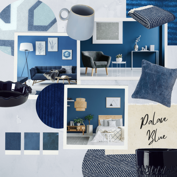 This shows our moodboard which has been inspired by blue tones, in this image there are various different textures, shades and tones of blue which we have gathered from our own products and researched imagery.