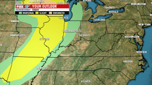 Severe weather outlook from Fox affiliate WXIN.