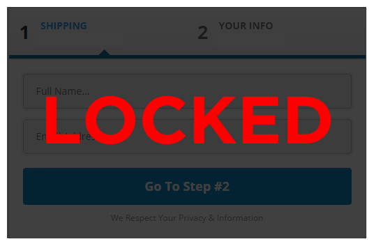 Locked Password Order Form from Funnel Fix It