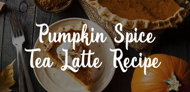 Pumpkin Spice Tea Latte Recipe