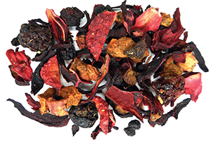 Strawberry Fields Hibiscus Herbal Tea for your evening tea ritual