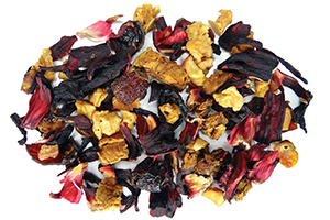 Apple Vanilla Hibiscus Fruit Tea for a Kids Tea Party