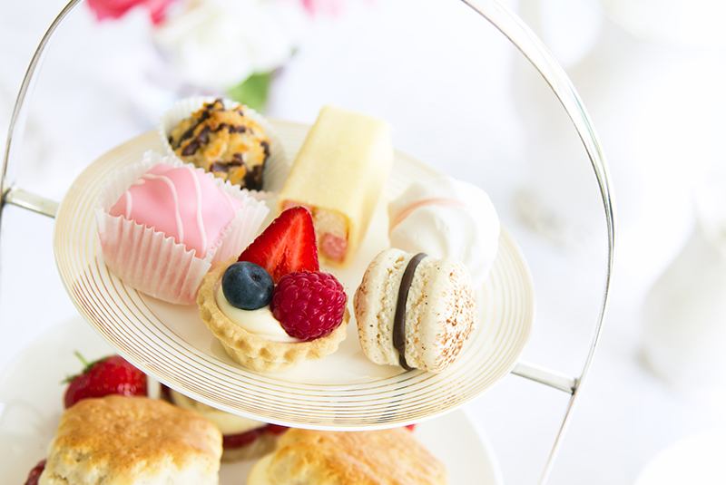 Serve tea sandwiches and sweets for a kids tea party