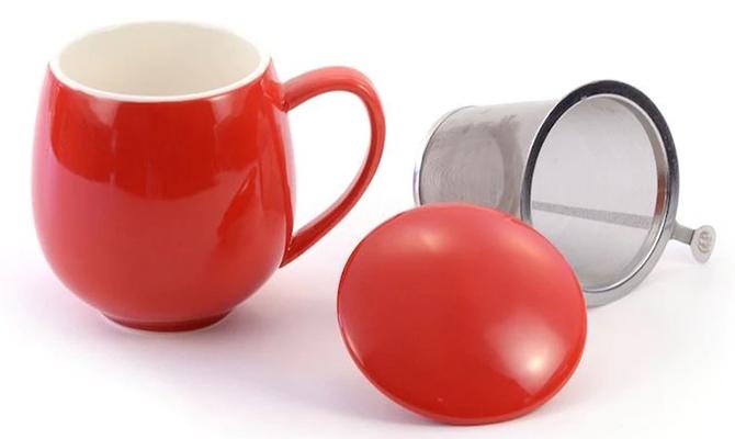Porcelain Infuser Mug Teaware for Tea